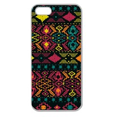 Bohemian Patterns Tribal Apple Seamless Iphone 5 Case (clear) by BangZart