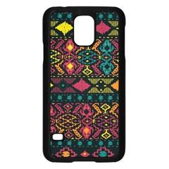 Bohemian Patterns Tribal Samsung Galaxy S5 Case (black) by BangZart
