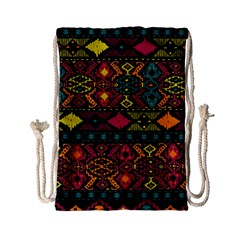 Bohemian Patterns Tribal Drawstring Bag (small) by BangZart