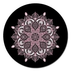 Ornate Mandala Magnet 5  (round) by Valentinaart