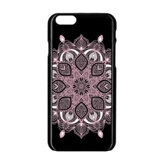 Ornate Mandala Apple Iphone 6/6s Black Enamel Case by Valentinaart