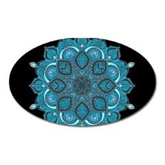 Ornate Mandala Oval Magnet by Valentinaart