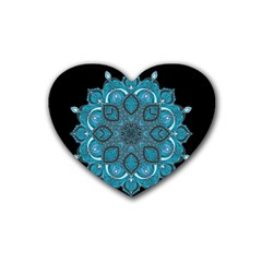 Ornate Mandala Heart Coaster (4 Pack)  by Valentinaart
