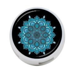 Ornate Mandala 4 Port Usb Hub (one Side) by Valentinaart