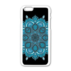 Ornate Mandala Apple Iphone 6/6s White Enamel Case by Valentinaart