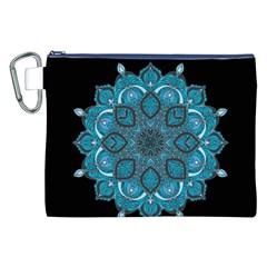 Ornate Mandala Canvas Cosmetic Bag (xxl) by Valentinaart