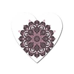 Ornate Mandala Heart Magnet by Valentinaart