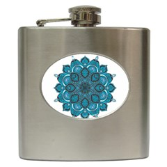 Ornate Mandala Hip Flask (6 Oz) by Valentinaart
