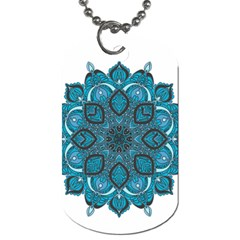 Ornate Mandala Dog Tag (two Sides) by Valentinaart