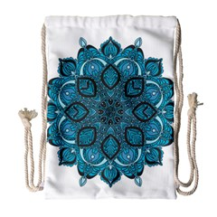 Ornate Mandala Drawstring Bag (large) by Valentinaart