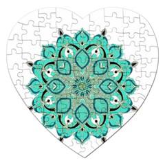 Ornate Mandala Jigsaw Puzzle (heart) by Valentinaart