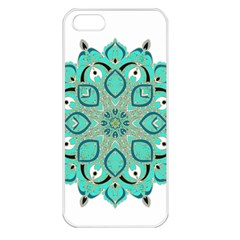 Ornate Mandala Apple Iphone 5 Seamless Case (white) by Valentinaart