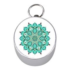 Ornate Mandala Mini Silver Compasses by Valentinaart