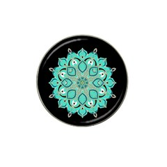 Ornate Mandala Hat Clip Ball Marker by Valentinaart