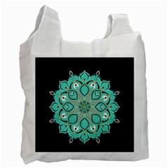 Ornate Mandala Recycle Bag (one Side) by Valentinaart