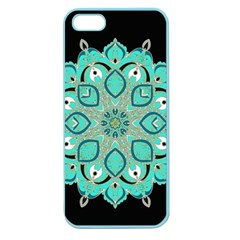 Ornate Mandala Apple Seamless Iphone 5 Case (color) by Valentinaart