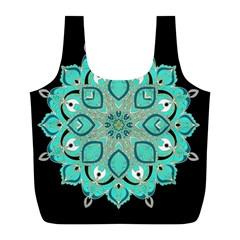 Ornate Mandala Full Print Recycle Bags (l)  by Valentinaart