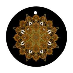 Ornate Mandala Ornament (round) by Valentinaart