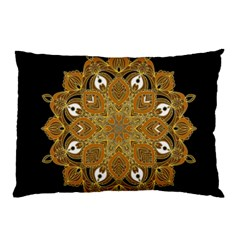 Ornate Mandala Pillow Case by Valentinaart