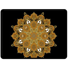 Ornate Mandala Double Sided Fleece Blanket (large)  by Valentinaart