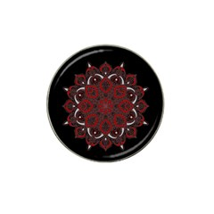 Ornate Mandala Hat Clip Ball Marker (4 Pack) by Valentinaart