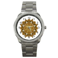 Ornate Mandala Sport Metal Watch by Valentinaart