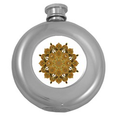 Ornate Mandala Round Hip Flask (5 Oz) by Valentinaart
