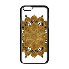 Ornate Mandala Apple Iphone 6/6s Black Enamel Case by Valentinaart