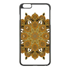 Ornate Mandala Apple Iphone 6 Plus/6s Plus Black Enamel Case by Valentinaart