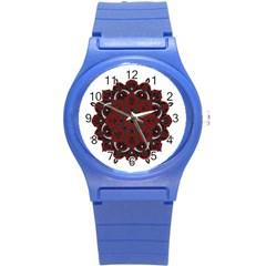 Ornate Mandala Round Plastic Sport Watch (s) by Valentinaart