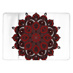 Ornate Mandala Samsung Galaxy Tab 10 1  P7500 Flip Case by Valentinaart