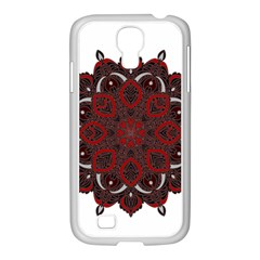 Ornate Mandala Samsung Galaxy S4 I9500/ I9505 Case (white) by Valentinaart