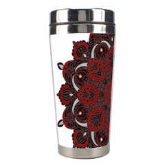 Ornate Mandala Stainless Steel Travel Tumblers by Valentinaart