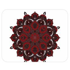 Ornate Mandala Double Sided Flano Blanket (medium)  by Valentinaart