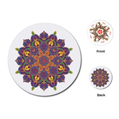 Ornate Mandala Playing Cards (round)  by Valentinaart