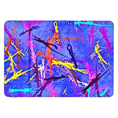 Paint Splashes                 Samsung Galaxy Tab 10 1  P7500 Flip Case by LalyLauraFLM