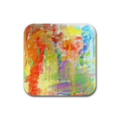 Paint Texture                        Rubber Square Coaster (4 Pack by LalyLauraFLM