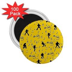 Elvis Presley  pattern 2.25  Magnets (100 pack)  by Valentinaart