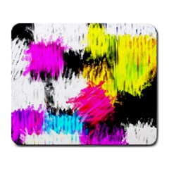 Colorful Blurry Paint Strokes                         Large Mousepad by LalyLauraFLM