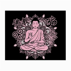 Ornate Buddha Small Glasses Cloth by Valentinaart
