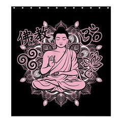 Ornate Buddha Shower Curtain 66  X 72  (large)  by Valentinaart