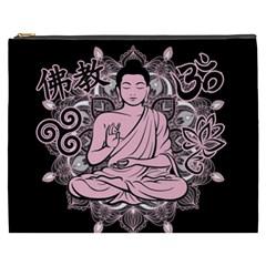 Ornate Buddha Cosmetic Bag (xxxl)  by Valentinaart