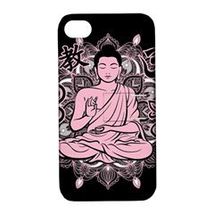Ornate Buddha Apple Iphone 4/4s Hardshell Case With Stand by Valentinaart
