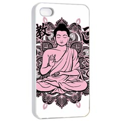 Ornate Buddha Apple Iphone 4/4s Seamless Case (white) by Valentinaart