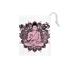 Ornate Buddha Drawstring Pouches (small)  by Valentinaart