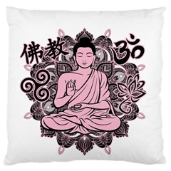 Ornate Buddha Large Flano Cushion Case (two Sides) by Valentinaart