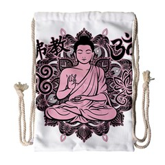 Ornate Buddha Drawstring Bag (large) by Valentinaart