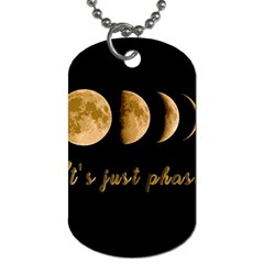 Moon Phases  Dog Tag (two Sides) by Valentinaart