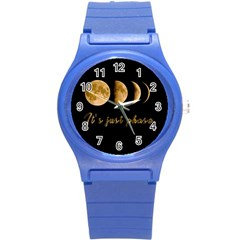 Moon Phases  Round Plastic Sport Watch (s) by Valentinaart
