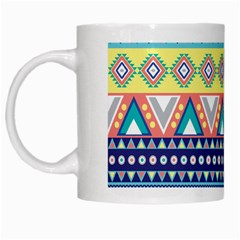 Tribal Print White Mugs by BangZart
